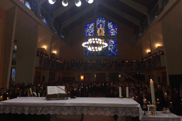 Velika Subota misa bdijenja - crkva u Kreševu